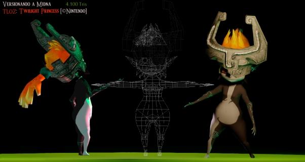 Versión 3D del personaje Midna de Nintendo